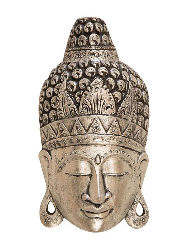 Cabeça de Buda em Madeira 50cm - Bali