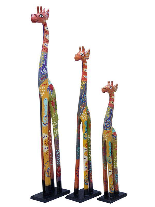 Trio de Girafas Coloridas 100/80/60cm - Bali