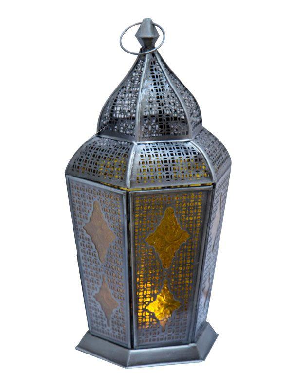 "Lanterna Indiana ""Samsara"" Âmbar 43cm"
