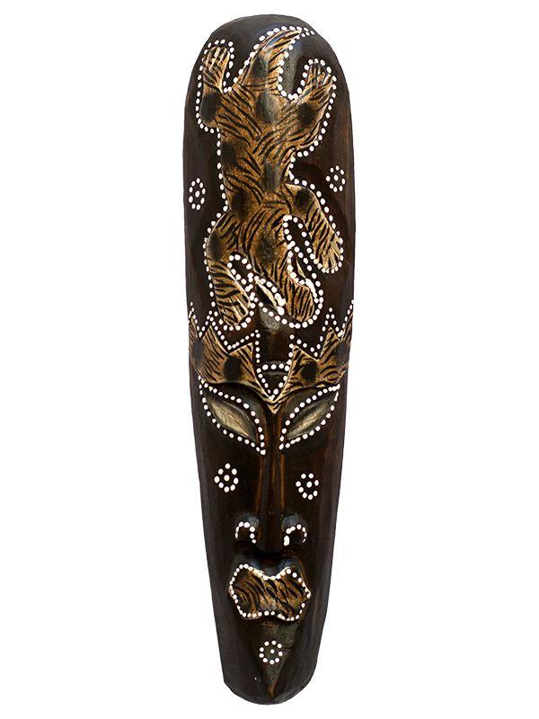 Máscara Decorativa em Madeira 50cm - Arte Bali