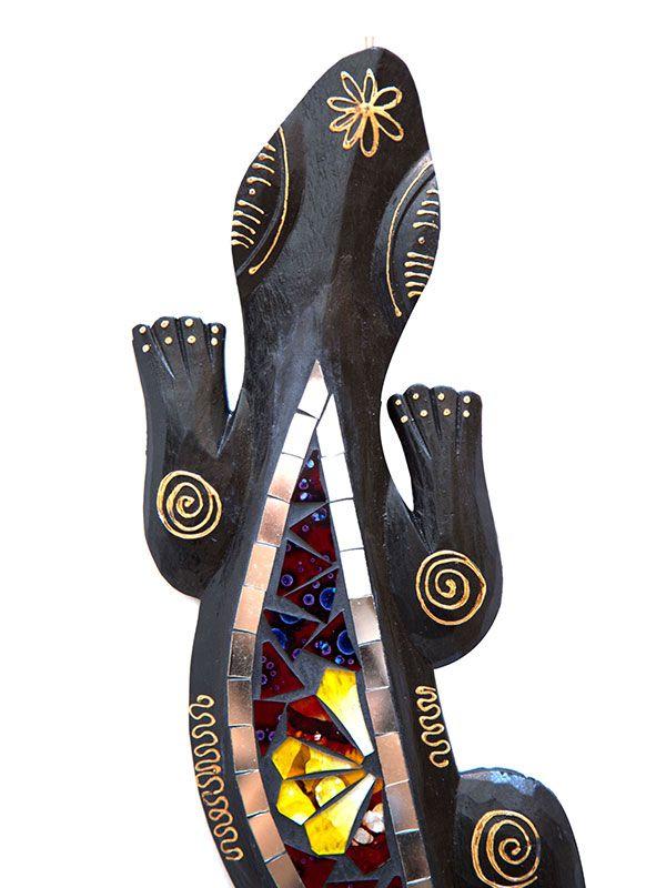 Lagarto Gecko com Mosaico 50cm