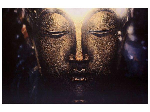 Quadro Face Buda Gold 60x90cm
