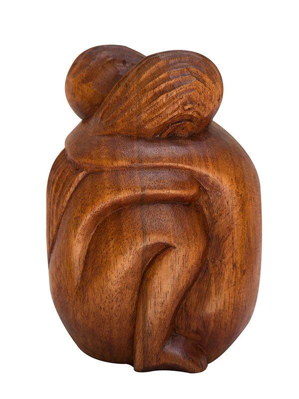 """Escultura Abstrata """"Abraço Eterno"""" 20cm"""