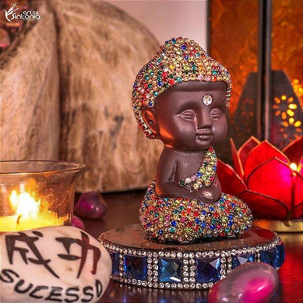 Monge Budista c/ Brilhantes 11cm