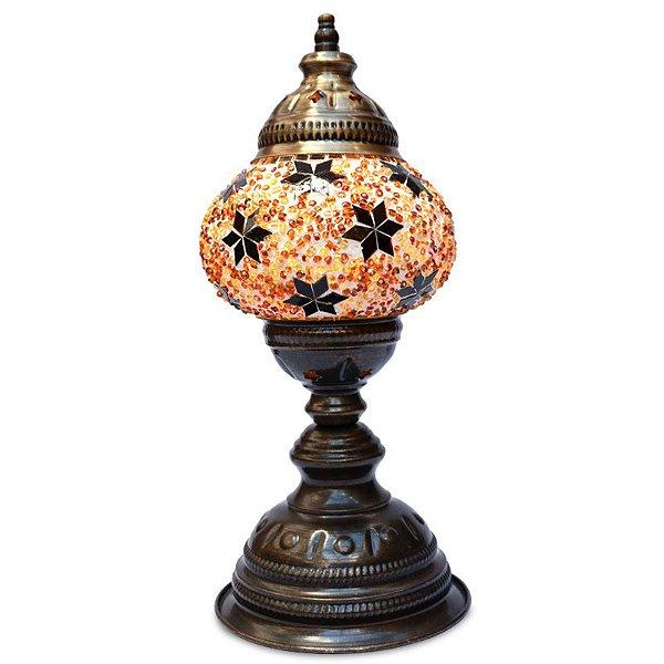 Abajur Turco c/ Mosaico Estrelas 32cm