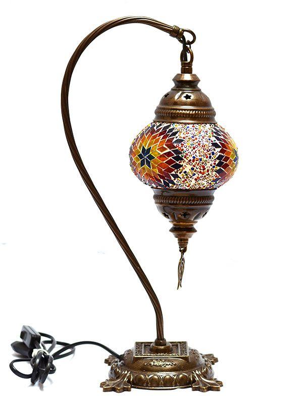 Abajur Turco c/ Mosaico de Mandalas 43cm