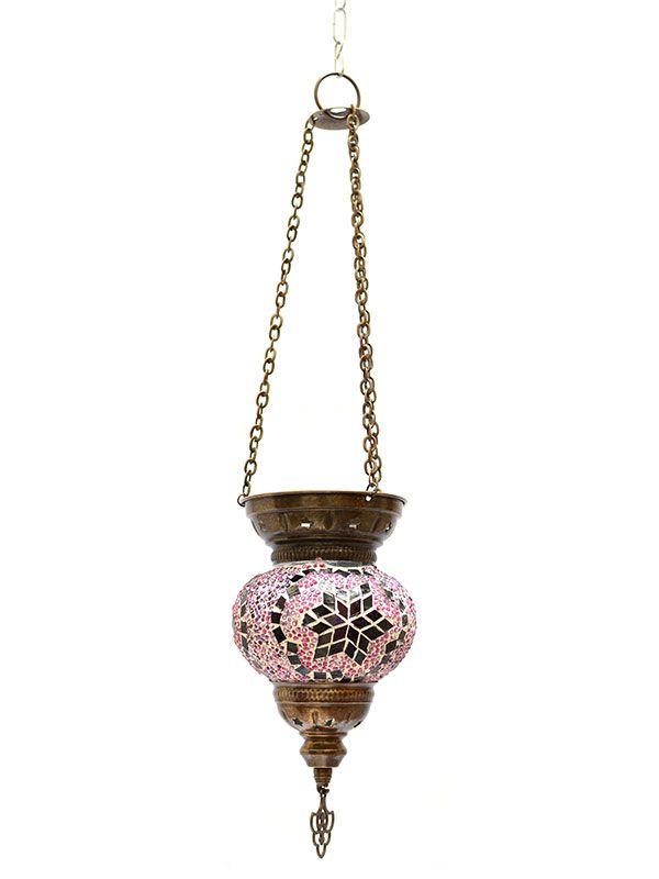 Luminária Turca Mosaico Rosa