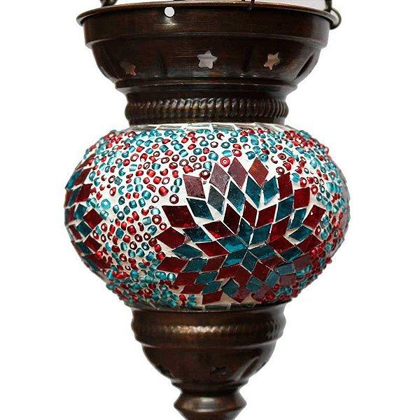 Luminária Turca c/ Mosaico 25cm