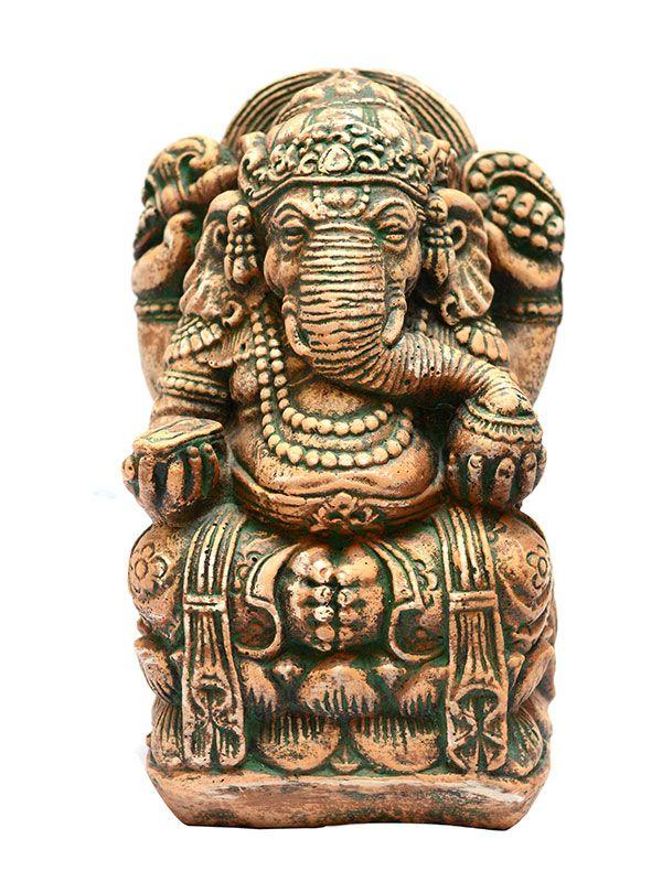 Escultura Ganesh em Pedra 32cm - Bali