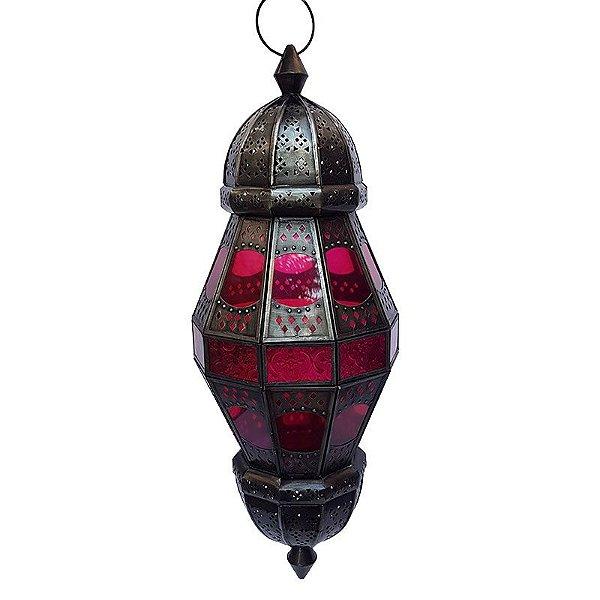 Lanterna Kandla Rosa 58cm