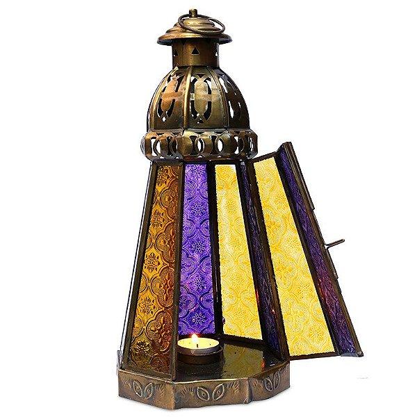 Lanterna Indiana p/ Decoração 34cm