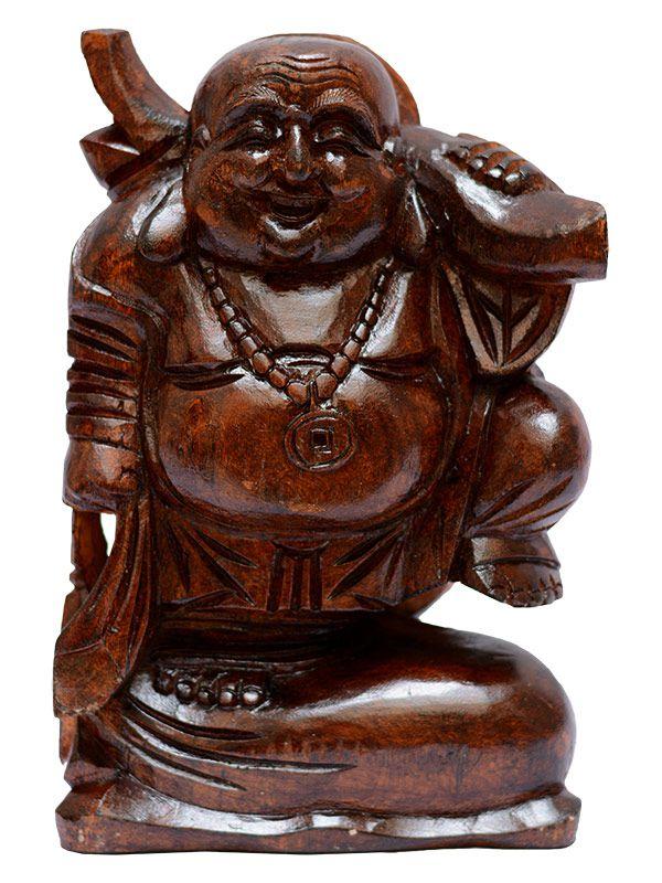 Escultura Buda Prosperidade 30cm - Bali