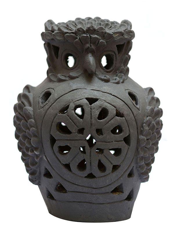 Coruja Terracota p/ Jardim 30cm - Bali