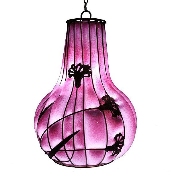 Luminária Pendente Rosa - Filipinas