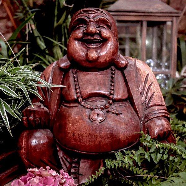 Escultura Buda Happy 50cm - Bali
