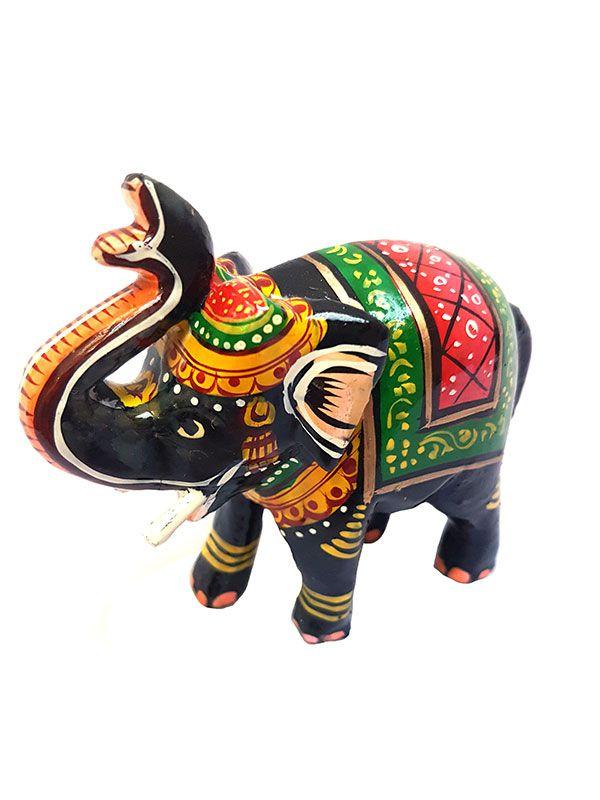 Escultura Elefante Indiano Colorido