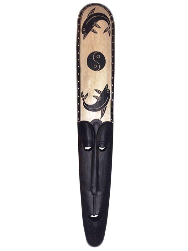 Máscara Artesanal p/ Decoração de Paredes - Lombok 100cm