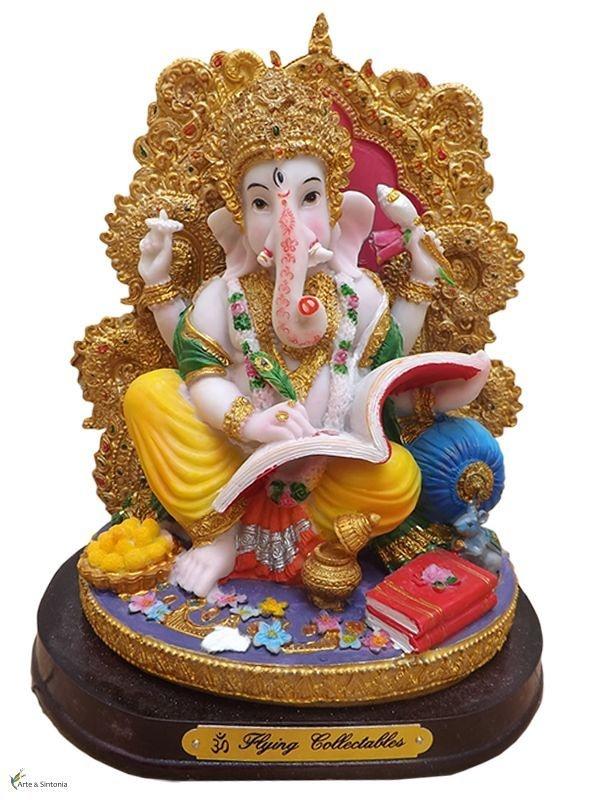 Escultura Indiana p/ Decoração - Deus Ganesha