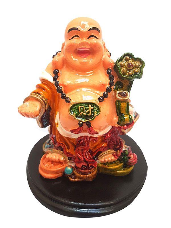 Escultura Buda Feliz em Resina