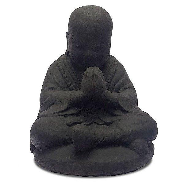 Escultura Buda Orando Pedra 30cm