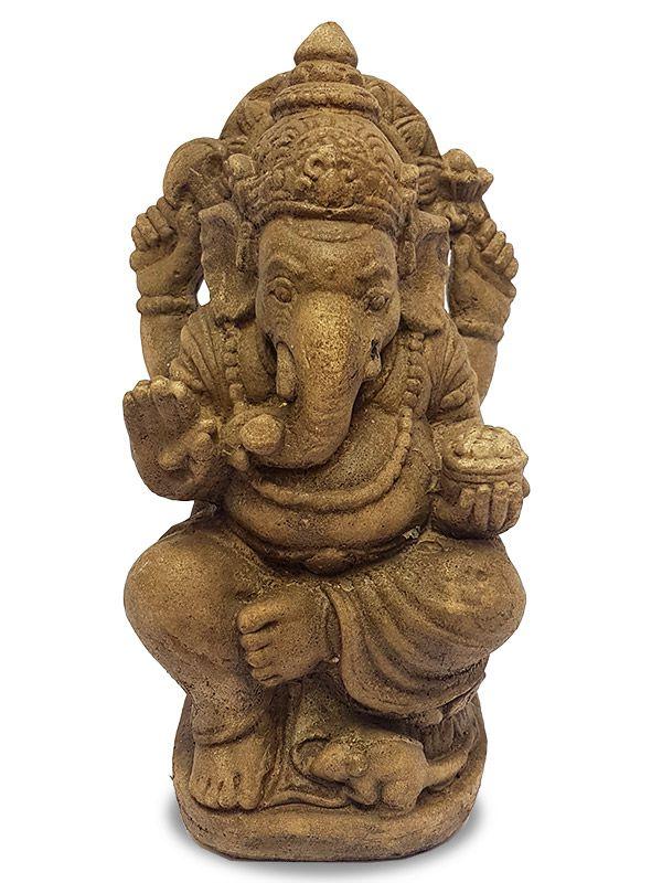 Escultura Deus Ganesh em Pedra 30cm