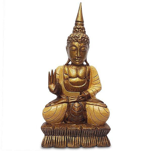 Buda em Madeira Albizia 60cm - Bali