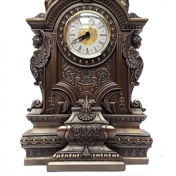 Relógio de Mesa Barroco Bronze
