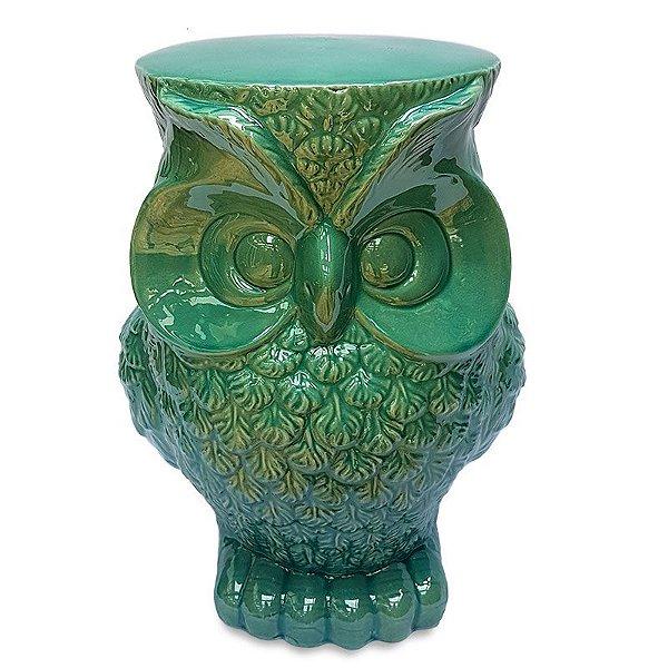 Garden Seat Coruja em Cerâmica
