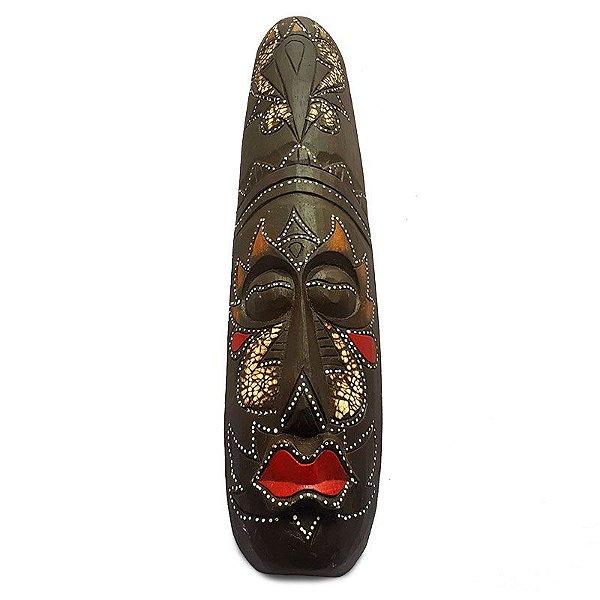 Máscara Artesanal em Madeira e Madrepérola - Bali