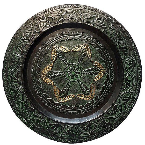 "Mandala Indiana ""Ajmer"" em Metal 60cm"