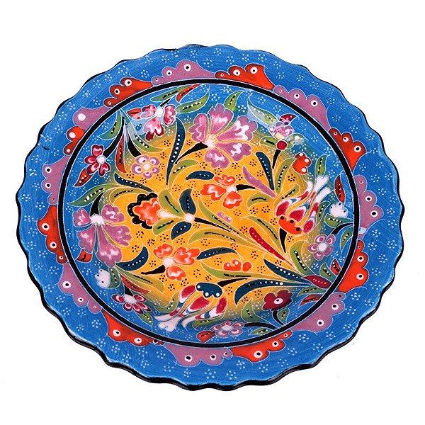 Prato Colorido em Cerâmica Turca 18cm