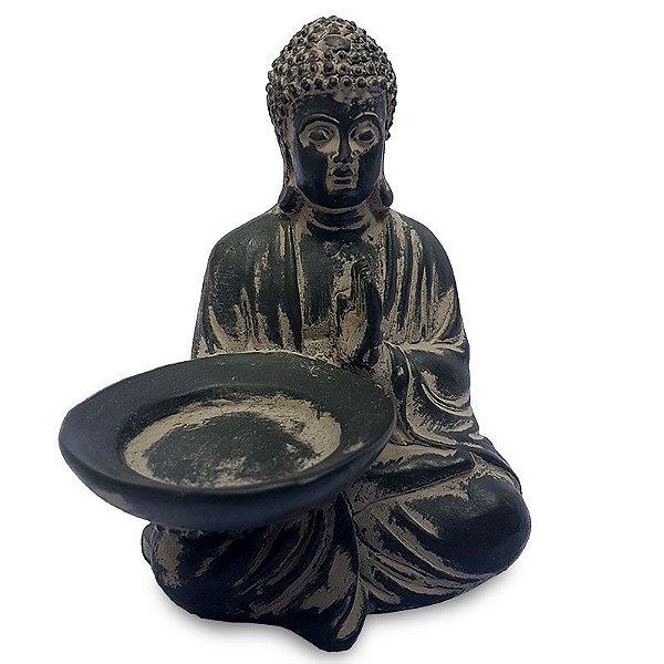 Estátua de Buda Porta-Vela 14cm
