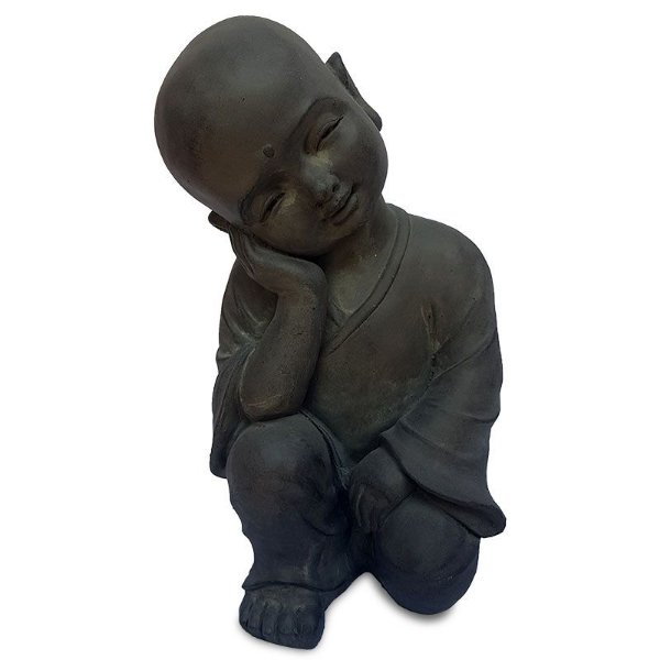 Escultura de Monge Pensativo 40cm