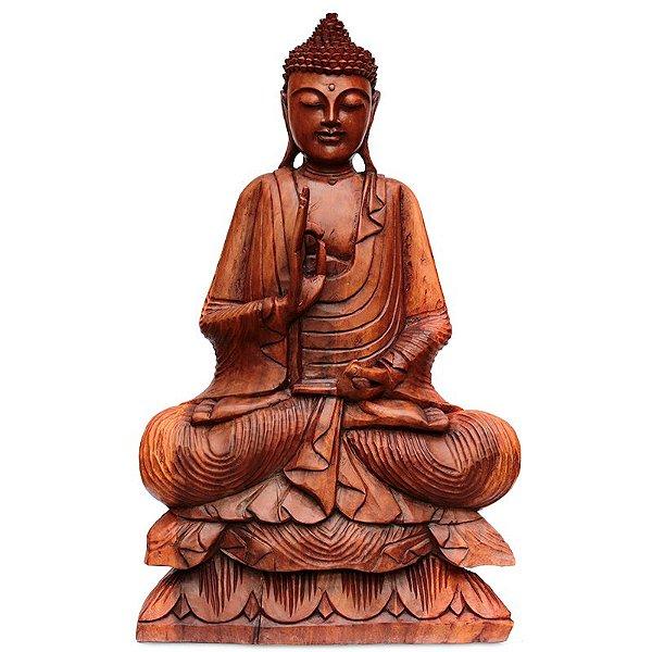 Buda em Madeira 80cm Bali