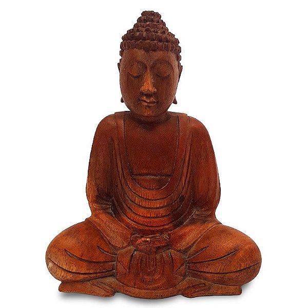 Escultura de Buda Meditando 20cm - Bali