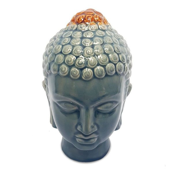 Cabeça de Buda em Cerâmica