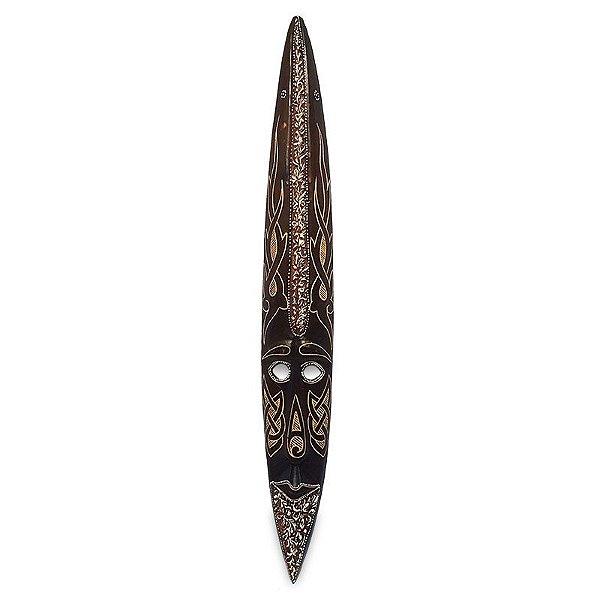 Máscara em Madeira Tribal Bali 100cm