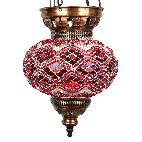 Pendente Turco Mosaico Red 28cm