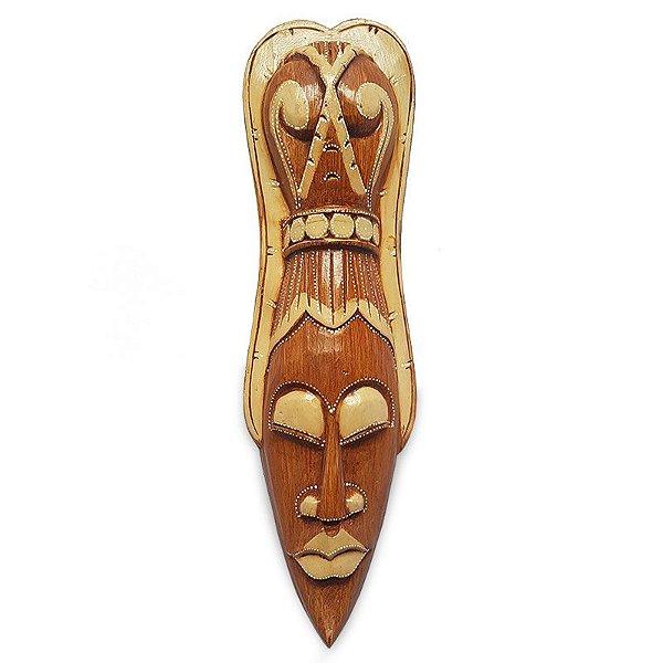 Máscara Decorativa Antik em Madeira 50cm - Bali