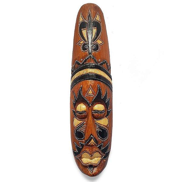 Máscara Tribal Bali em Madeira 50cm