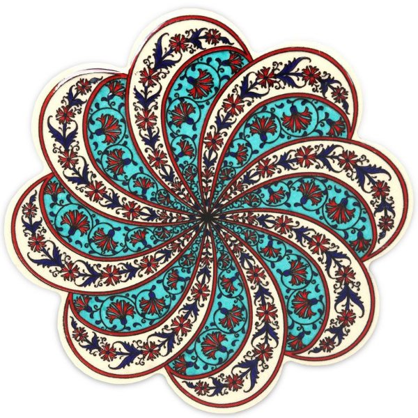 Descanso Panela Espiral em Cerâmica Turca