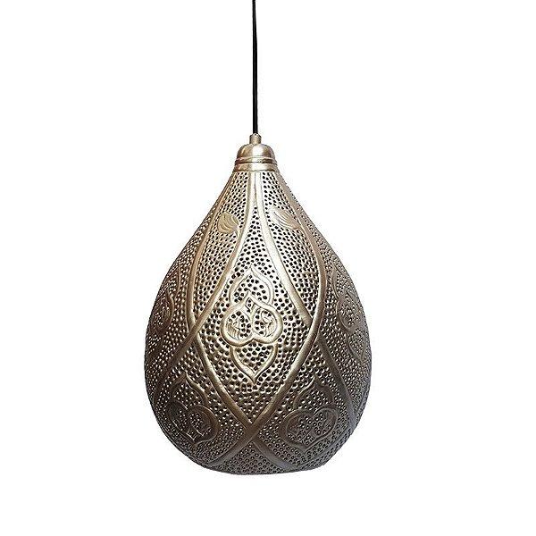 Luminária Pendente Indiano em Metal