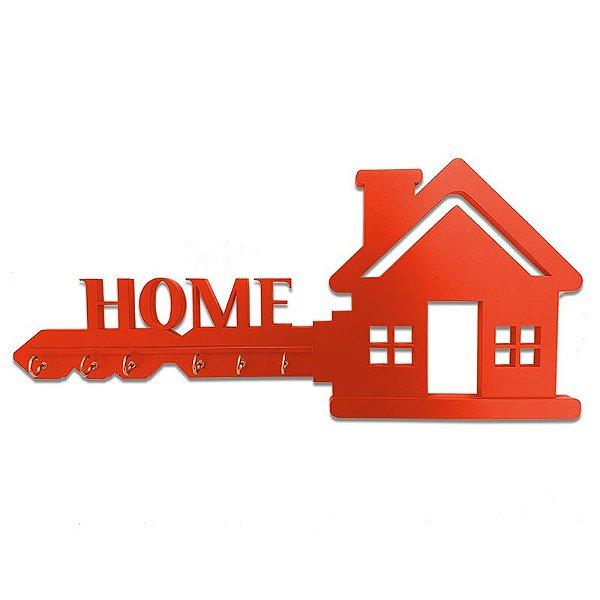 """Porta Chaves """"Home"""" em Mdf"""