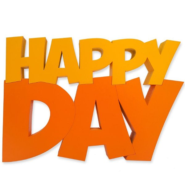 "Palavras Decorativas ""Happy Day"""