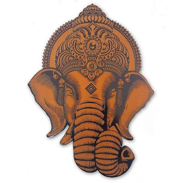 Placa Deus Ganesh em Mdf