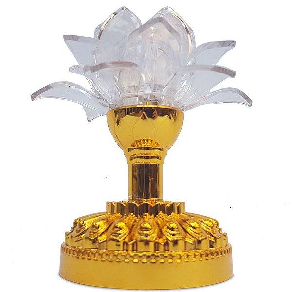 Luminária Flor de Lótus Led + Mantras