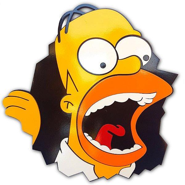 Placa Decorativa Homer Simpsons