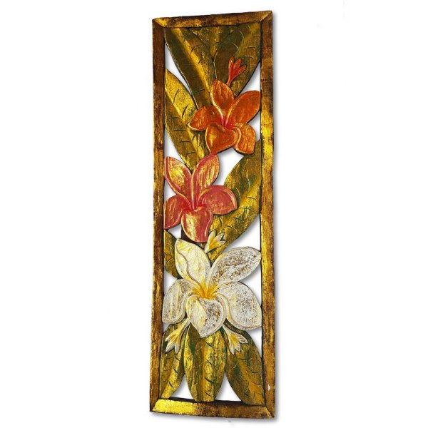 Painel Flores Entalhadas 100cm - Bali