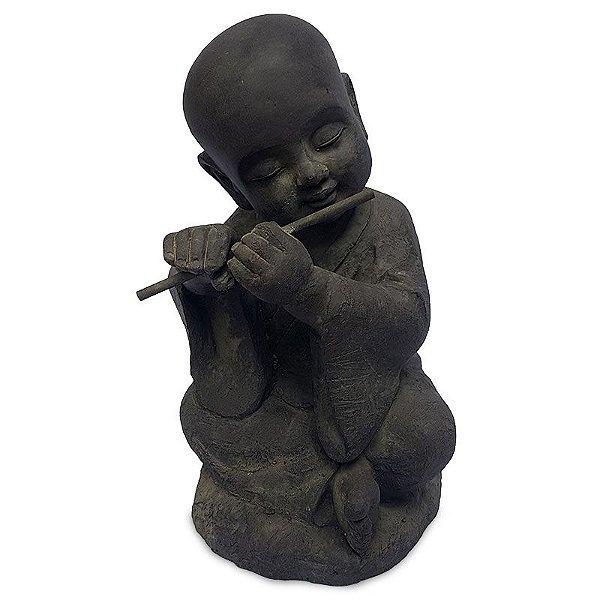 Estátua  de Jardim Buda Flautista