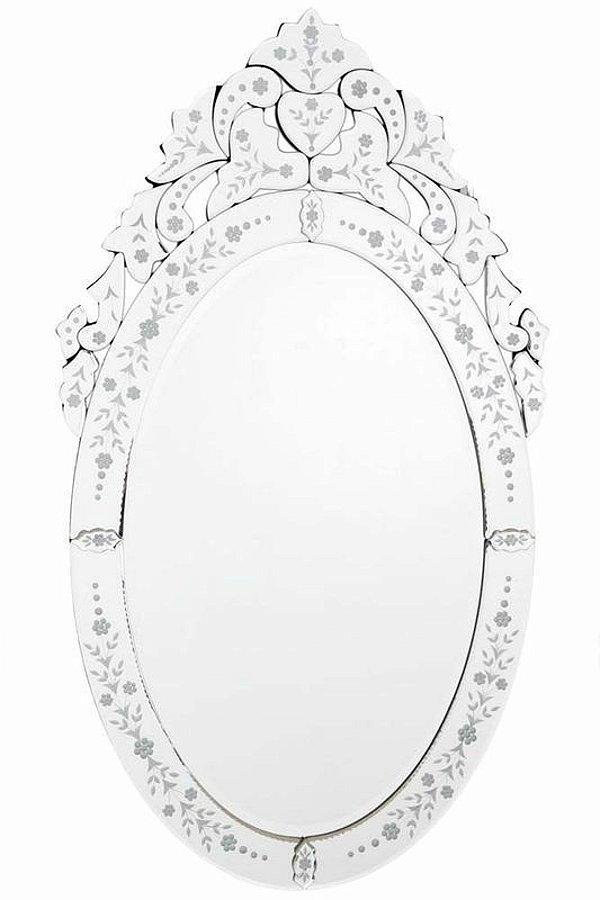 Espelho Veneziano Oval 100x57cm